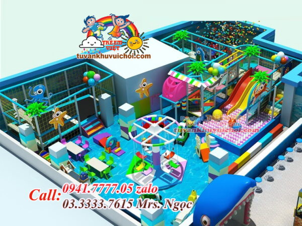 lắp đặt khu vui chơi trẻ em trong nhà