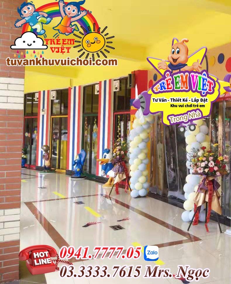 thiết kế lắp đặt khu vui chơi trẻ em