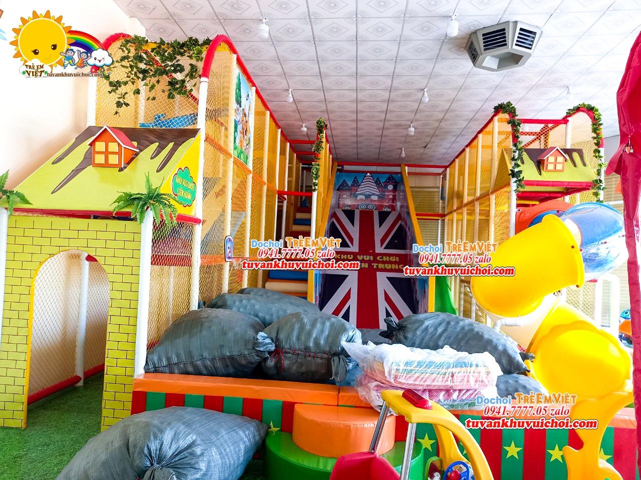 Thiết kế khu vui chơi trẻ em ở nông thôn.