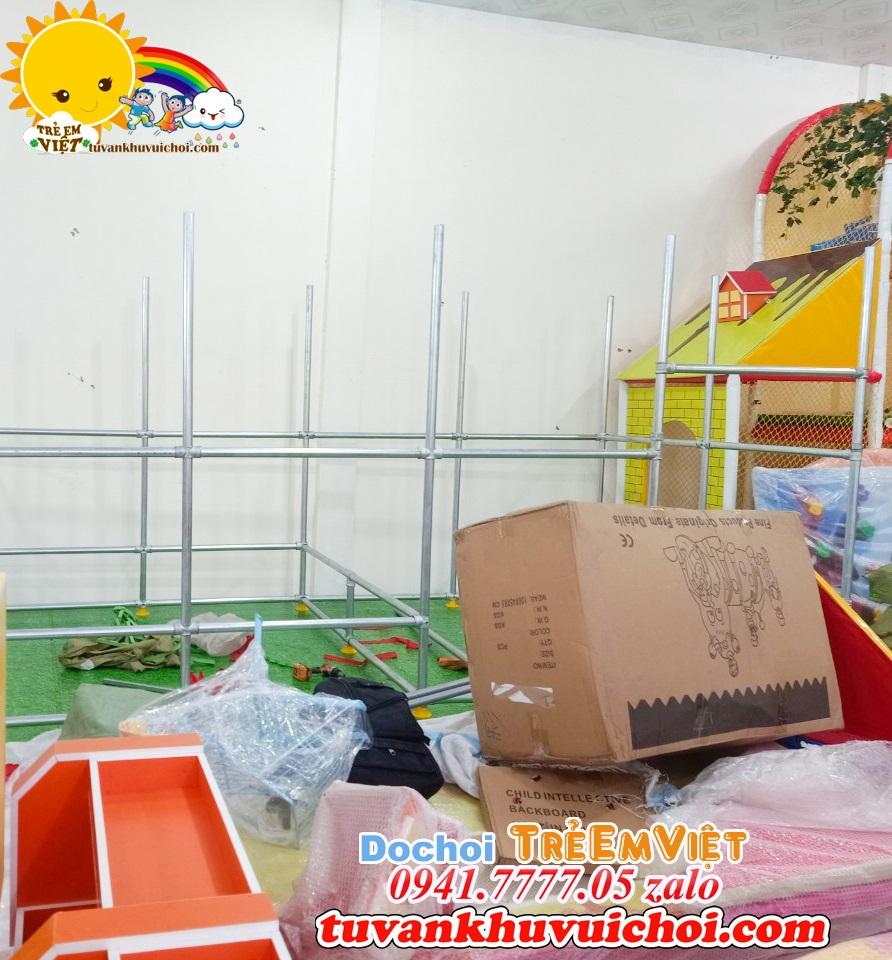Thi công khu vui chơi trẻ em ở nông thôn